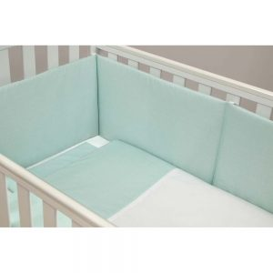 Set lenjerie patut  60x120cm LIGHT TURQUOISE